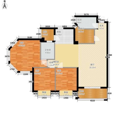 海伦堡御院3室0厅2卫0厨124.00㎡户型图