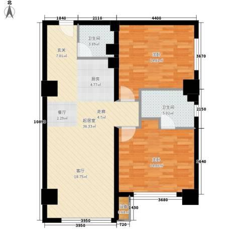半岛四季2室0厅2卫0厨107.00㎡户型图