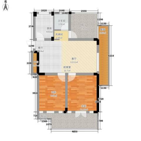 保亿・风景沁园2室0厅1卫1厨83.00㎡户型图