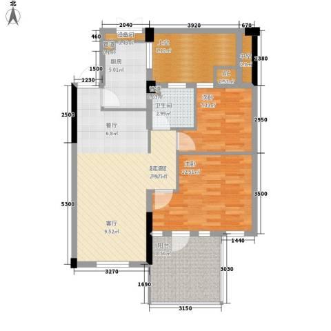 保亿・风景沁园2室0厅1卫1厨81.00㎡户型图