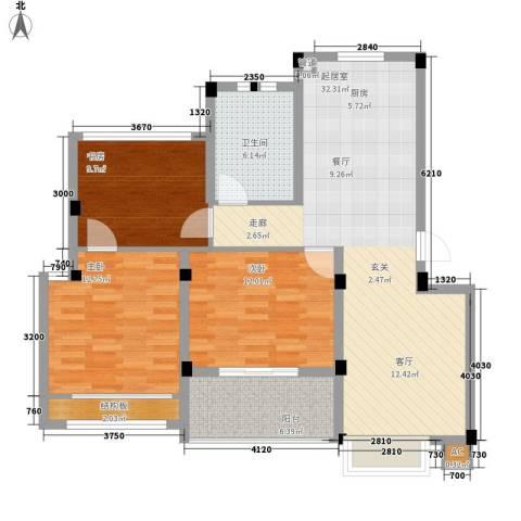 保亿・风景沁园3室0厅1卫0厨93.00㎡户型图