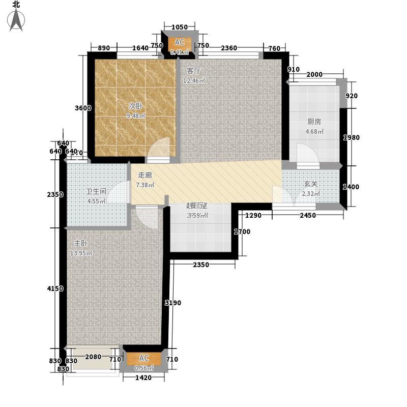 京贸国际城85.06㎡2#楼-D3户型