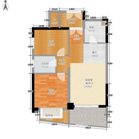 华融琴海湾2室0厅1卫1厨87.00㎡户型图
