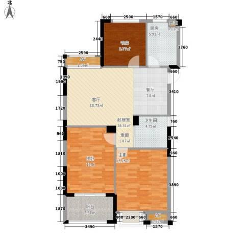 保亿・风景沁园3室0厅1卫1厨94.00㎡户型图