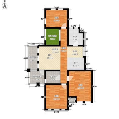 东市尚品3室0厅1卫1厨144.00㎡户型图