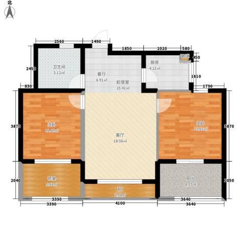 云峰苑2室0厅1卫1厨85.00㎡户型图