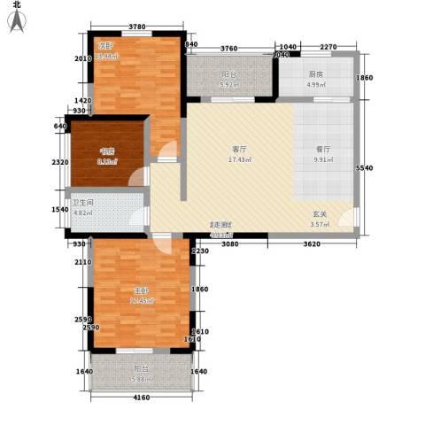 天香心苑3室0厅1卫1厨113.00㎡户型图