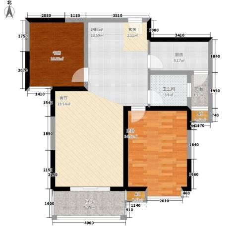 天香心苑2室0厅1卫1厨85.00㎡户型图