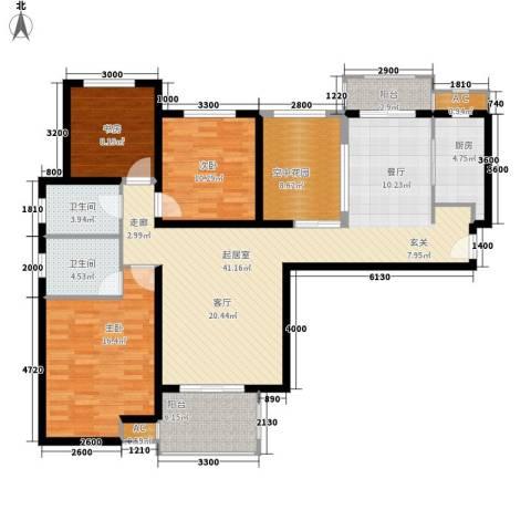 紫铭小区3室0厅2卫1厨137.00㎡户型图