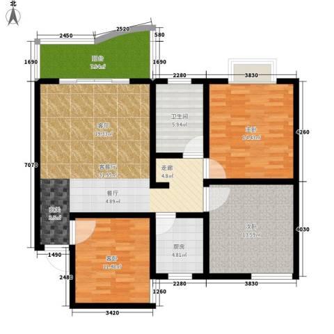 海德福苑3室1厅1卫1厨103.00㎡户型图