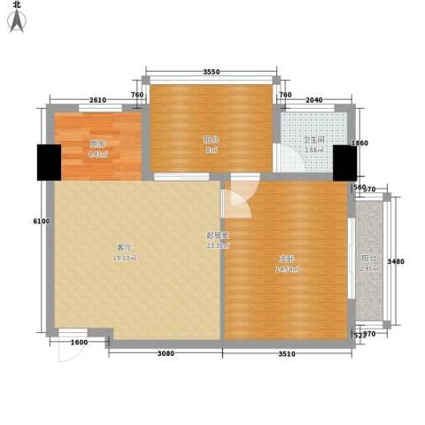 博鳌白马郡1室0厅1卫0厨56.00㎡户型图