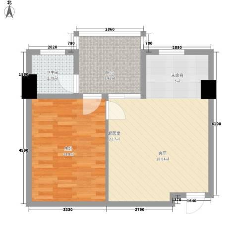 博鳌白马郡1室0厅1卫0厨64.00㎡户型图
