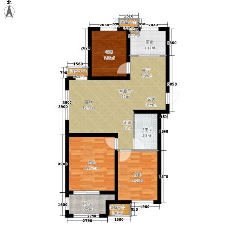 宏泰·美树3室1厅1卫1厨93.00㎡户型图
