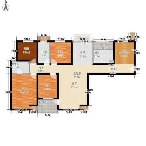紫铭小区4室0厅2卫1厨148.00㎡户型图