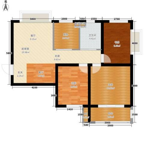 蓝星万象城3室0厅1卫1厨109.00㎡户型图