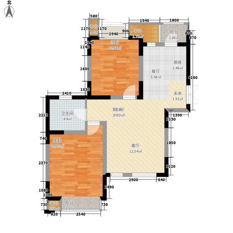 枫尚河院90.36㎡15、28、29号楼6-8-10-12层b户型