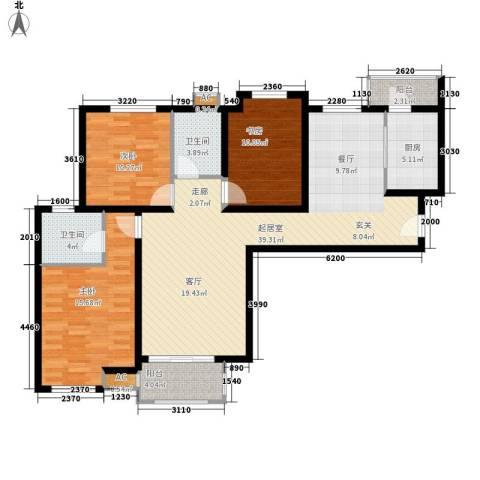 紫铭小区3室0厅2卫1厨127.00㎡户型图