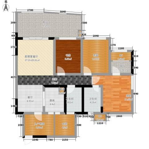 蓝光凯丽香江2室0厅2卫1厨99.17㎡户型图