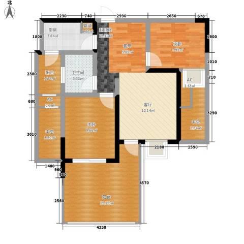 蓝光凯丽香江2室0厅1卫1厨72.98㎡户型图
