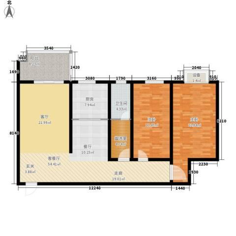 江尚天地2室1厅1卫1厨171.00㎡户型图