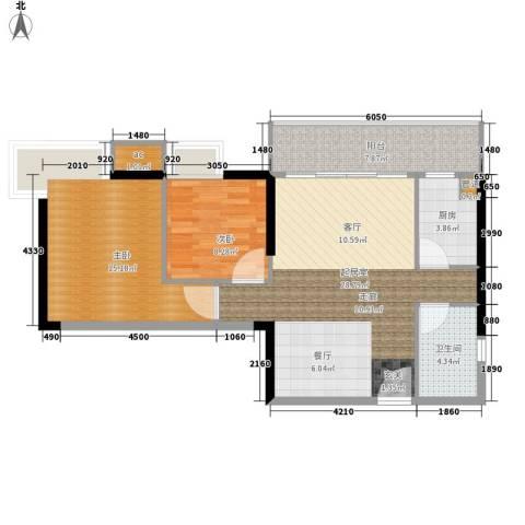 富力尚溢居2室0厅1卫1厨78.00㎡户型图