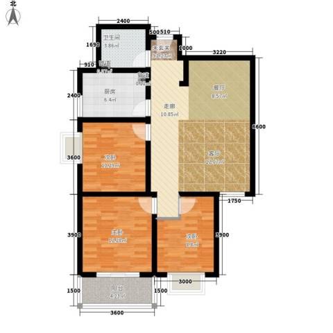 雅荷翠华小区3室0厅1卫1厨113.00㎡户型图