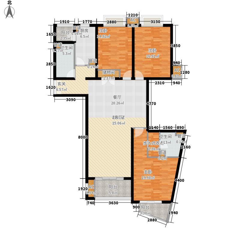 君御豪庭157.87㎡F012面积15787m户型
