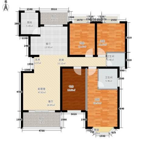鑫天芙蓉4室0厅2卫1厨150.00㎡户型图