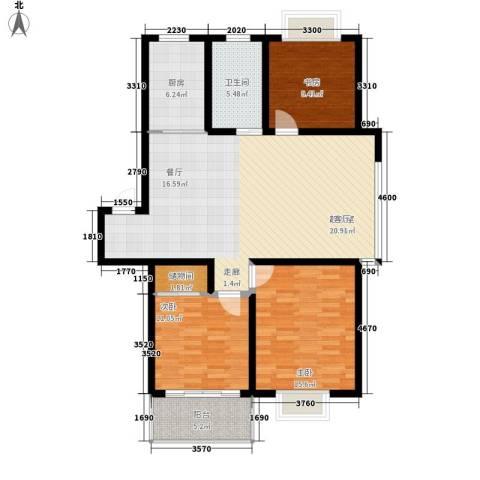 盛世名门3室0厅1卫1厨133.00㎡户型图