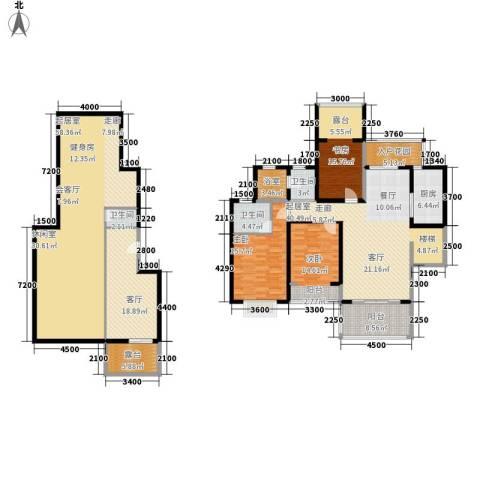 广信百度城Ⅱ大家3室1厅3卫1厨285.00㎡户型图
