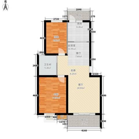 盛世名门2室0厅1卫1厨110.00㎡户型图