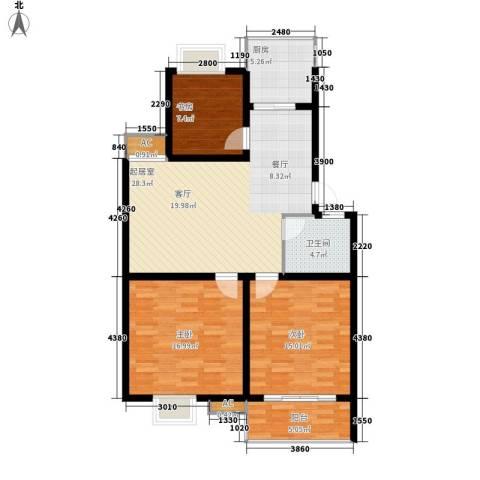 盛世名门3室0厅1卫1厨119.00㎡户型图