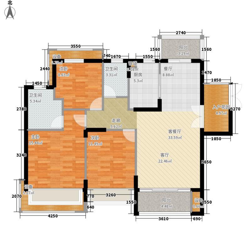 保利鑫城135.00㎡二期高层J户型
