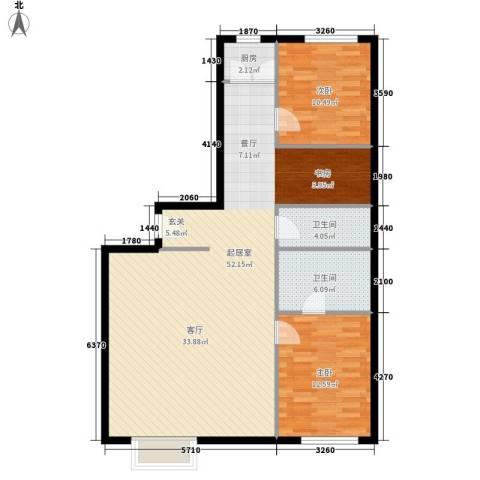 宏城国际公寓2室0厅2卫1厨96.00㎡户型图