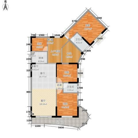 御景豪庭4室1厅2卫1厨142.00㎡户型图