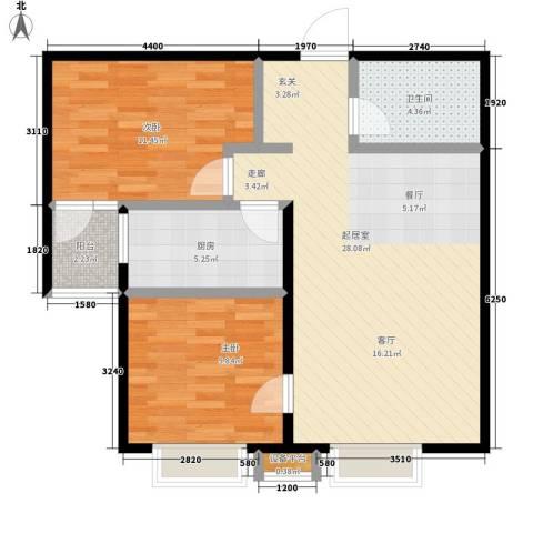 锦江I HOME2室0厅1卫1厨70.00㎡户型图