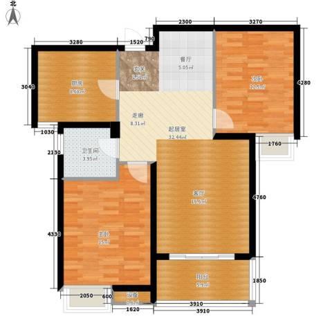 中建文化城2室0厅1卫1厨89.00㎡户型图