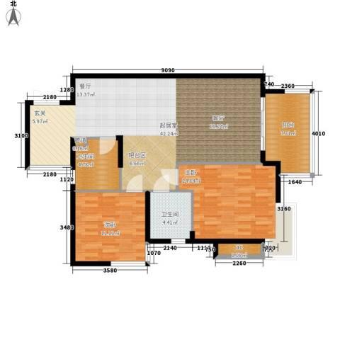 爱琴万泉水郡2室0厅2卫0厨97.00㎡户型图