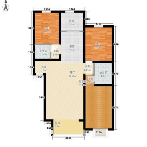 富城家园3室0厅2卫1厨138.00㎡户型图