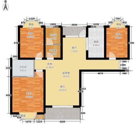 天城湖光山色3室0厅2卫1厨124.00㎡户型图
