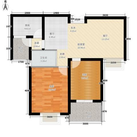 天城湖光山色2室0厅1卫1厨90.00㎡户型图