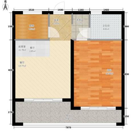 爱琴万泉水郡1室0厅1卫1厨63.00㎡户型图