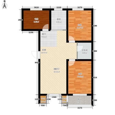 明日星城3室1厅1卫1厨111.00㎡户型图