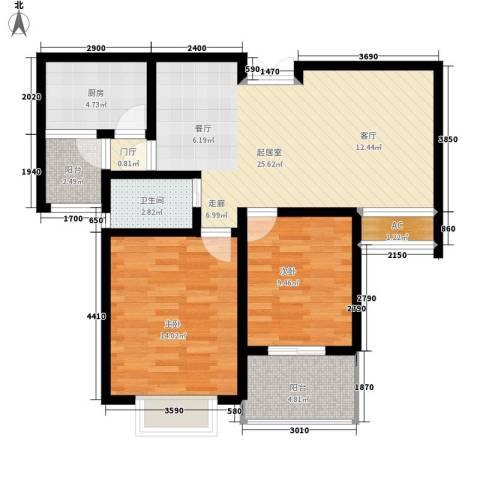 天城湖光山色2室0厅1卫1厨96.00㎡户型图