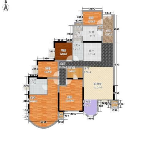 珠江帝景苑5室0厅3卫1厨201.00㎡户型图