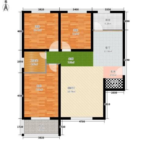 法苑小区3室1厅1卫1厨118.00㎡户型图