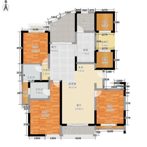 凤凰港蓝宝湾花园3室0厅2卫1厨174.00㎡户型图