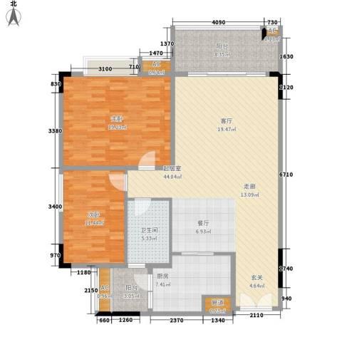 喜盈雅境2室0厅1卫1厨113.00㎡户型图