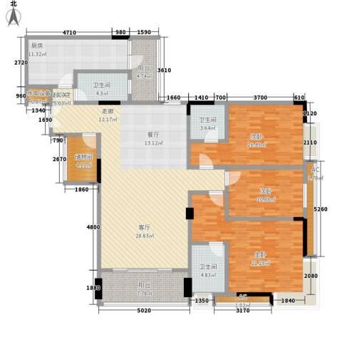 喜盈雅境3室0厅3卫1厨164.00㎡户型图