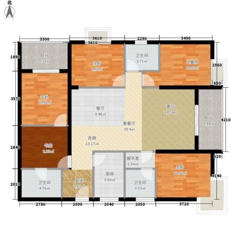 华城国际5室1厅3卫1厨167.00㎡户型图